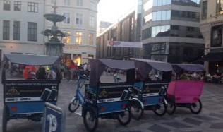Reklame på cykeltaxa